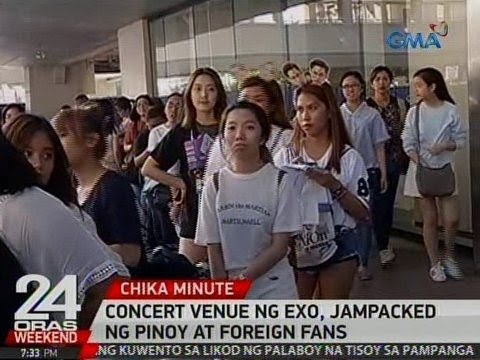 24 Oras: Concert venue ng EXO, jampacked ng Pinoy at foreign fans