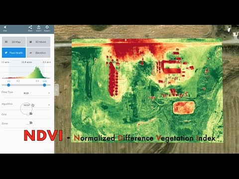NDVI maps by drone in 20 minutes. Demo. (Normalized Difference Vegetation Index).