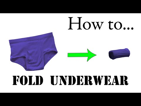 Army Packing Hack: How to Fold Underwear, Briefs, Boxers - Compact Roll for Road Trips, Vacation