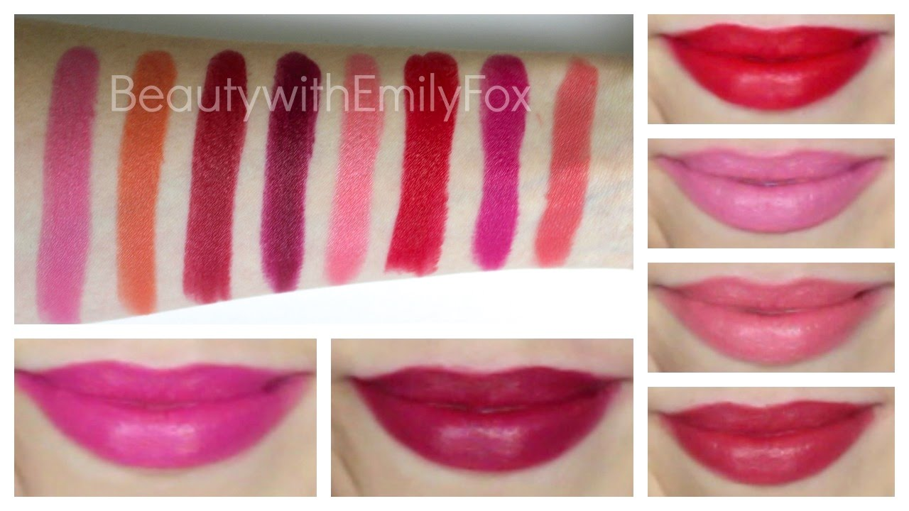 Rimmel Lasting Finish by Kate Moss Lipstick + Lip Swatches Part #3 ...