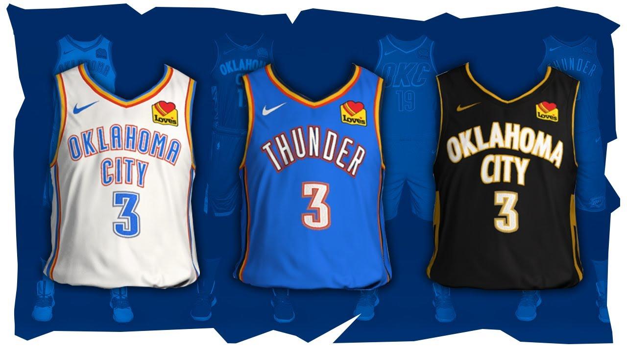 thunder jerseys