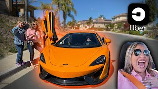 PICKING UBER RIDERS UP IN MY MCLAREN 570S!! *100 MPH RIDE*