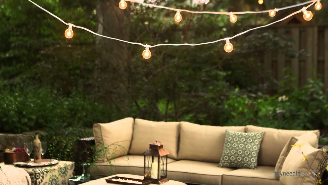 String Of Lights Do Not Work : Bulbrite Outdoor String Light with Incandescent Bulbs - Product Review Video - YouTube