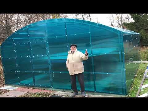 Павильон для бассейна из поликарбоната ОченьКрепко - подарок к Новому году