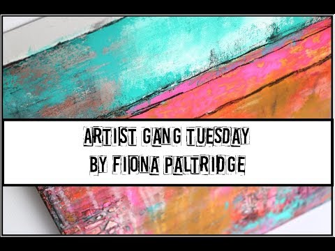 Abstract Canvas for Donna Downey Studios Artist gang
