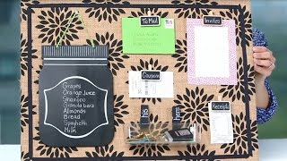 Organized Diy Burlap Bulletin Board