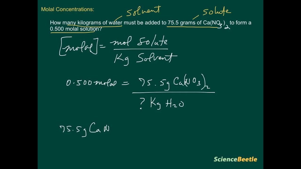 how to find molal concentration