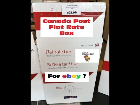 Canada Post Flat Rate Boxes for ebay.