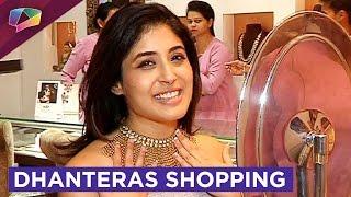 Kritika Kamra does Dhanteras gold shopping