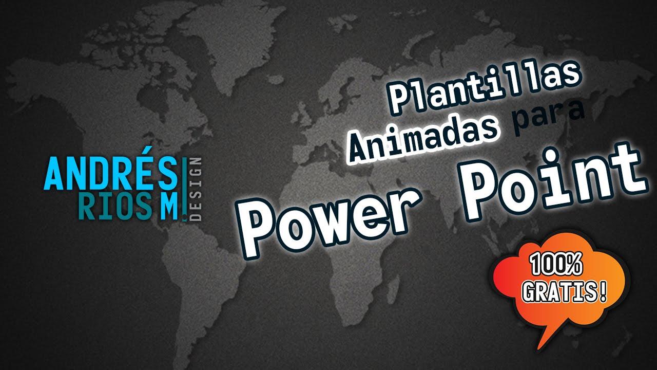 Plantillas animadas para power point - YouTube