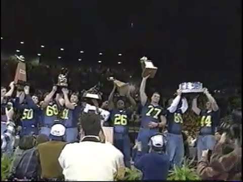 Michigan 1997 National Championship Celebration
