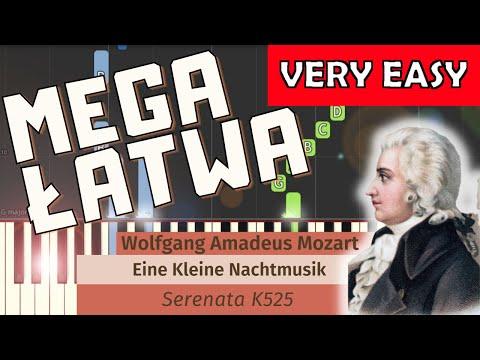 🎹 Eine Kleine Nachtmusik (W. A. Mozart) - Piano Tutorial (MEGA ŁATWA wersja) (VERY EASY) 🎹