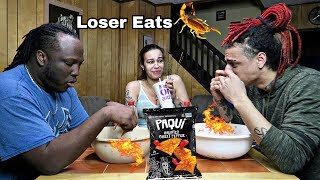 GHOST PEPPER CHIP CHALLENGE!! (Loser Eats a REAL SCORPION!!)