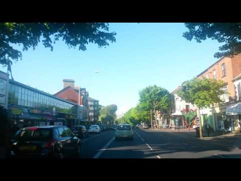 Lisburn Road Belfast on a sunny afternoon in May 2016