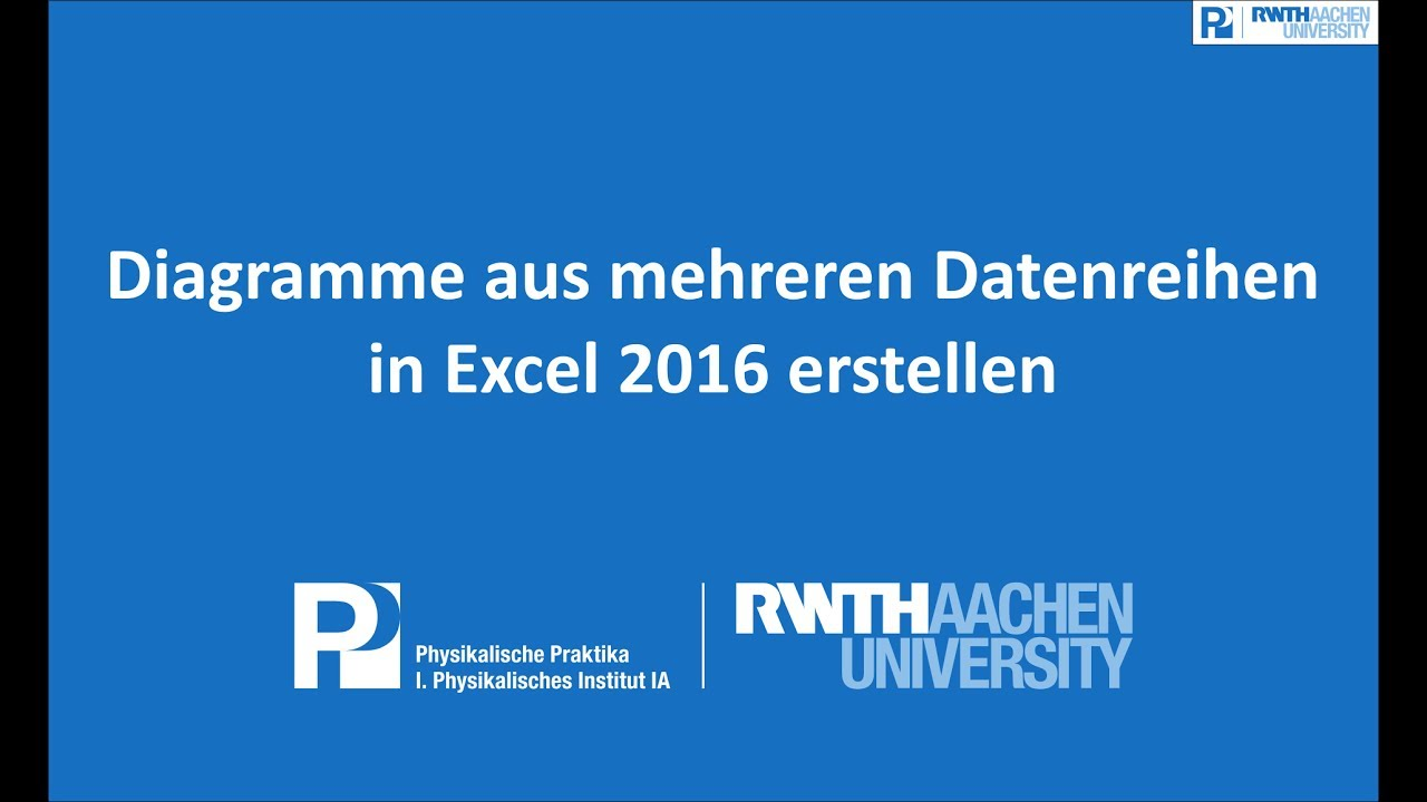 Diagramme Aus Mehreren Datenreihen In Excel 2016 Erstellen