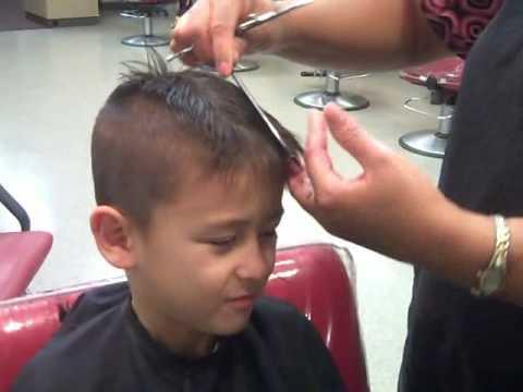 Mohawk Haircut 1st Grader Youtube