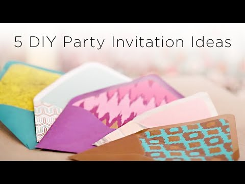 5 diy party invitation ideas youtube