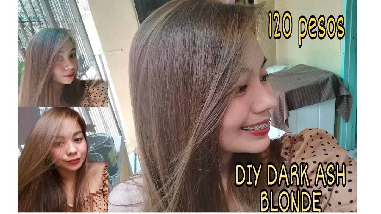 120 Pesos Diy Dark Ash Blonde Bremod Hair Color No Bleaching Youtube