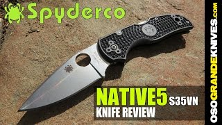Spyderco Native5 C41PBK5 Folding Knife Review (EDC Dream!) | OsoGrandeKnives