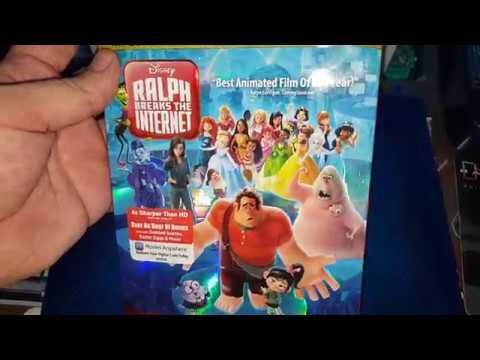 RALPH BREAKS THE INTERNET 4K ULTRA HD BLU-RAY UNBOXING + MENU