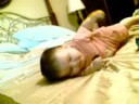 Baby Ray Ray rolling over
