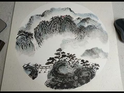 Hong Kong Artists Painting Chinese Landscape Painting