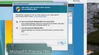 Window Internet Explorer 7 Security Tip - Phishing Filter