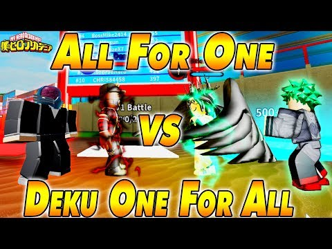 NEW 170K CODE ALL For One VS Deku One For All  Boku No Roblox Remastered