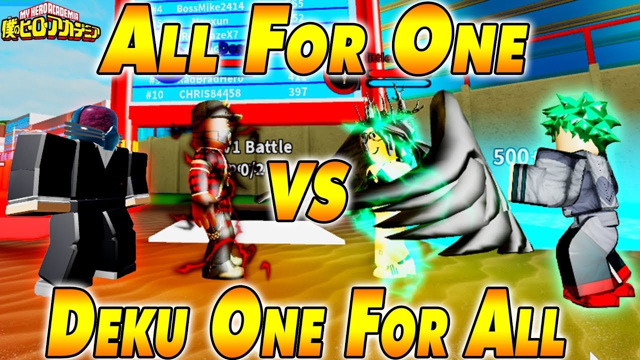 ALL For One VS Deku One For All | Boku No Roblox ...