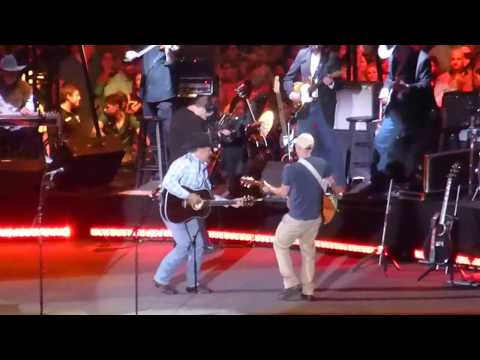 George Strait & Kenny Chesney - The Fireman (Dallas 06.07.14) HD