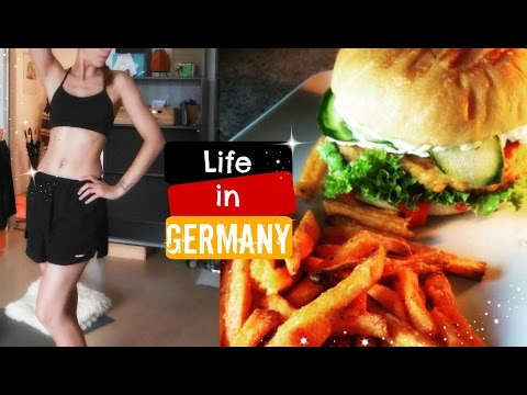 Vlog /// Life in Germany #13 : Sport & VEGAN Burger