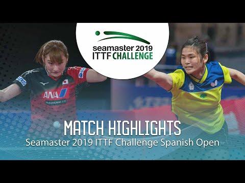 Kato Miyu Vs Li Yu-Jhun | 2019 ITTF Challenge Spanish Open Highlights (1/4)