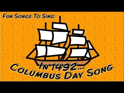 In 1492  Columbus Day Song For Children