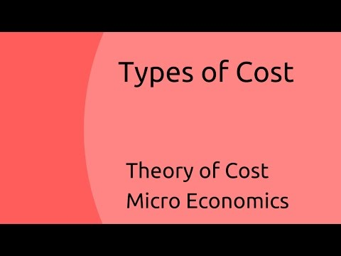 What are Types of Cost | Theory of Cost | CA CPT | CS & CMA Foundation | Class 11 | Class 12