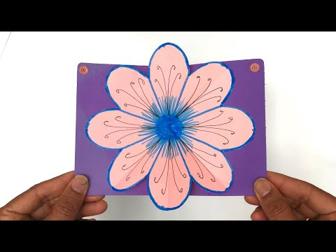 Flower Popup Card - DIY Tutorial by Paper Folds - 973