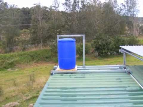 Shipping Container House Cold Water Tank Youtube