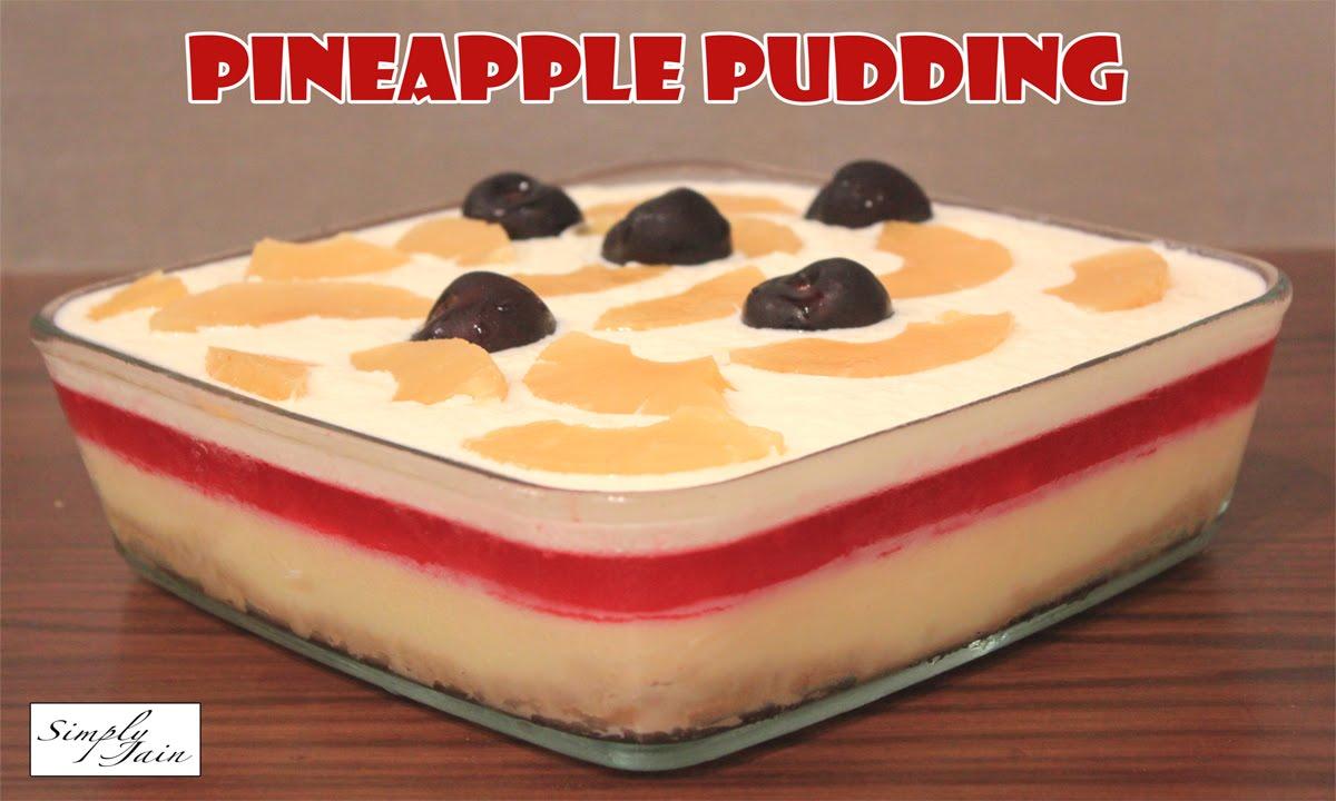 Pineapple pudding cake recipes