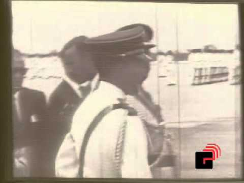 Haile Selassie arrives in Trinidad (21.04.66)