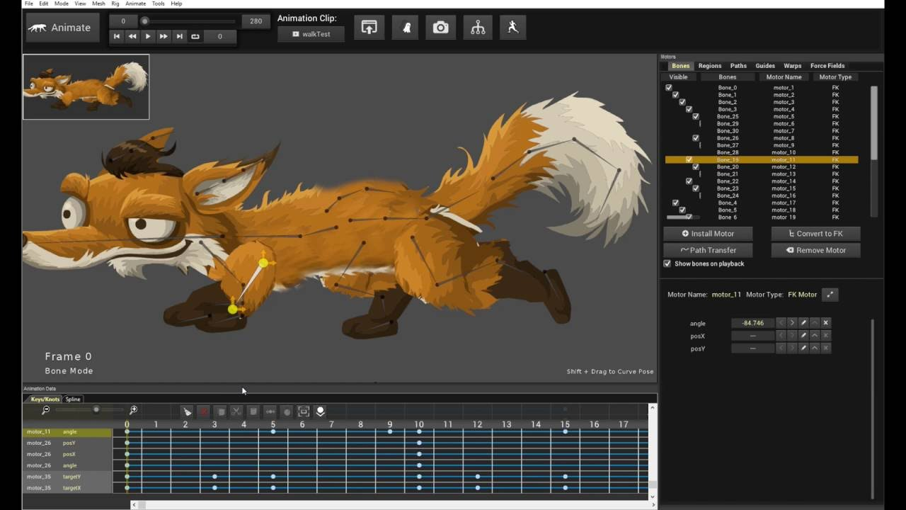 How to Animate 2D Skeletal Dinosaur Character for Unity and