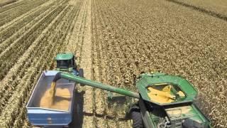 Grain corn harvest at Dan Shedd Farm, Eloy, Arizona 2013