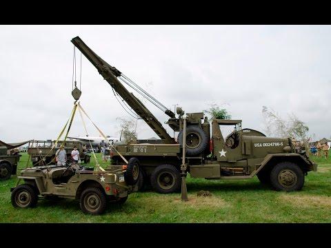 M1A1 Ward LaFrance Wrecker Military Tow Truck   World War II Weekend