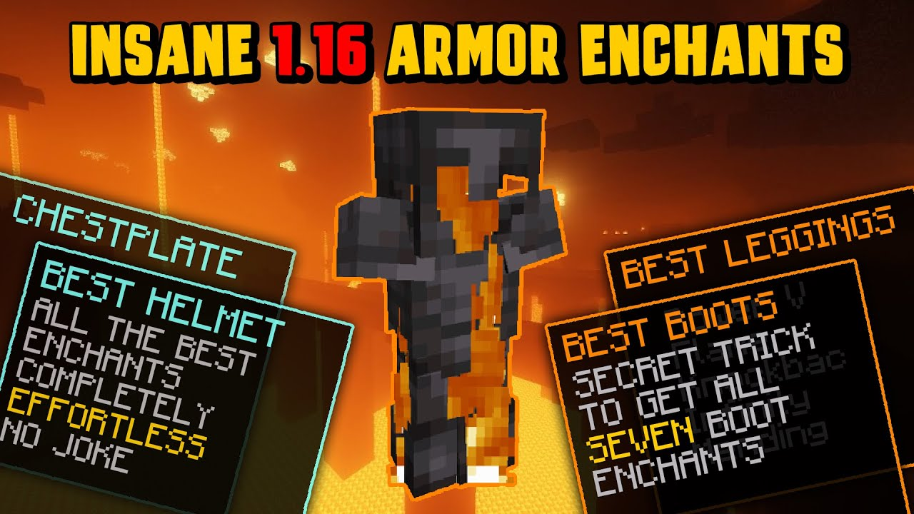 NETHER UPDATE READY! Best Armor Enchants for Minecraft 9.96! (Minecraft  Enchanting Guide) (Ep92)