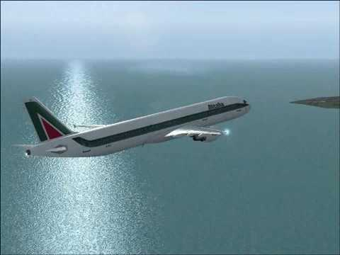 Flight Simulator 2004 Rome to London by Alitalia
