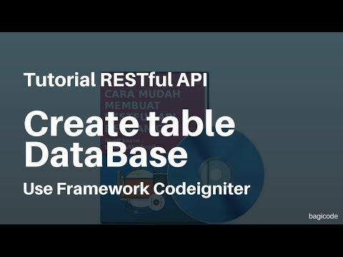 Tutorial RESTful API with CI | 9. Cara Membuat Table pada Database