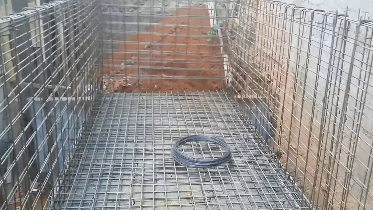 Piscina em concreto armado youtube for Como se hace una piscina de cemento