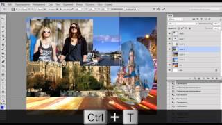 Коллаж из фотографий в фотошопе(В этом видео уроке показываю как сделать коллаж из нескольких фотографий в фотошопе (Adobe Photoshop)., 2013-10-21T04:33:51.000Z)