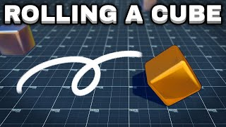 Thumbnail for 'Rolling a cube - Unity Tutorial'