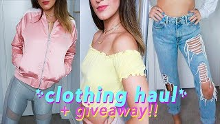 TRY-ON SUMMER CLOTHING HAUL + GIVEAWAY! Urban Outfitters, ASOS, Forever21 + More!