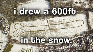 I drew a 600 foot Johnson in the snow