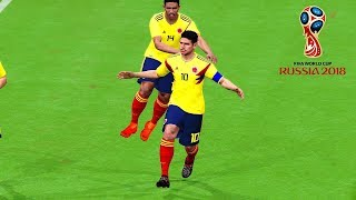 Colombia vs Japan | Group H | FIFA World Cup Russia 19 June 2018 Gameplay